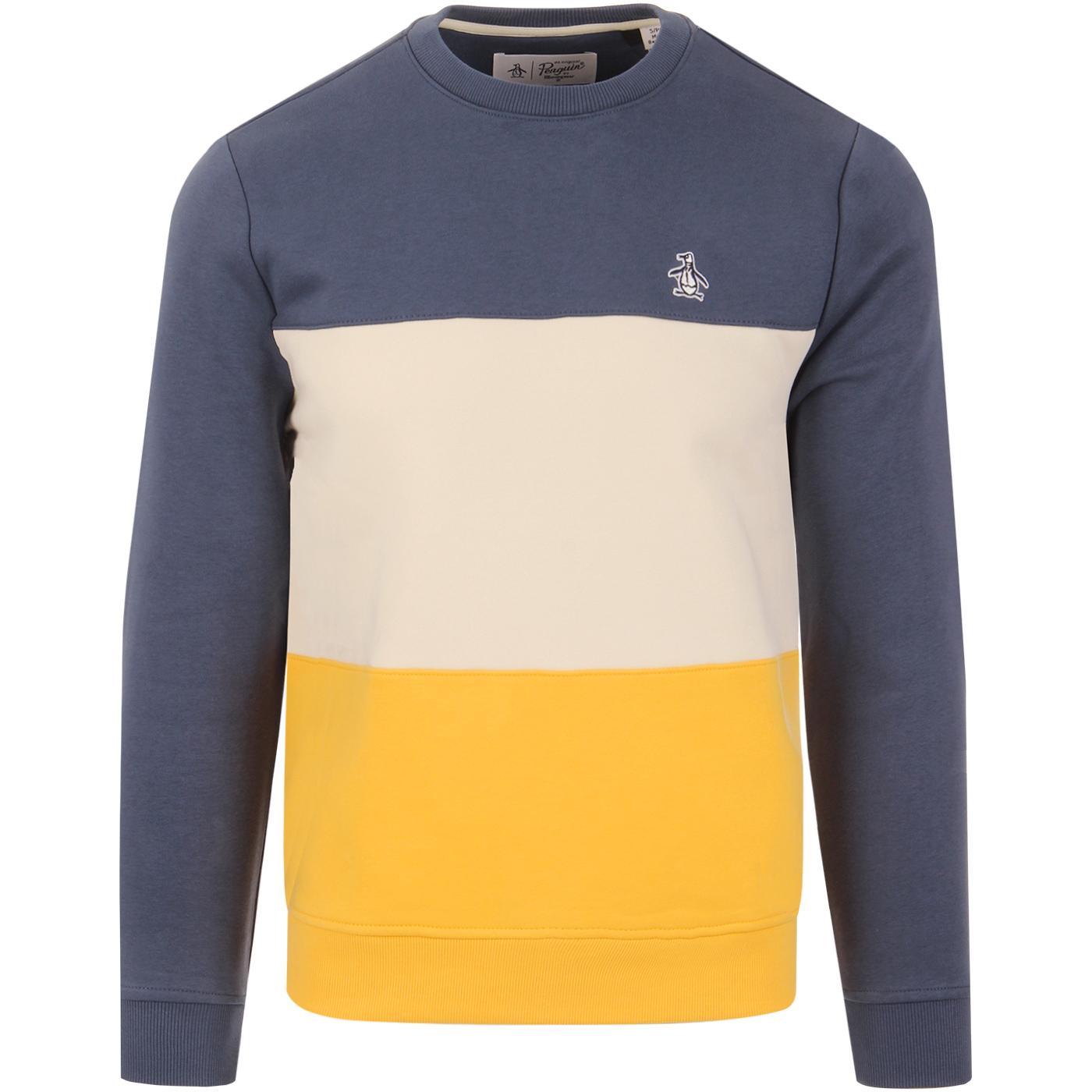ORIGINAL PENGUIN Colour Block Fleece Back Sweater