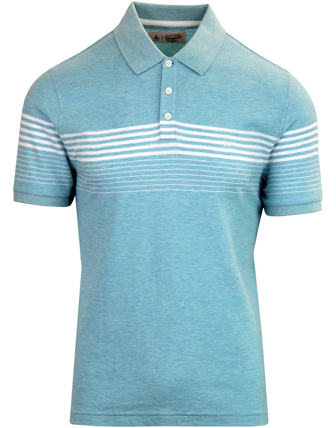 ORIGINAL PENGUIN 60's Engineered Stripe Pique Polo