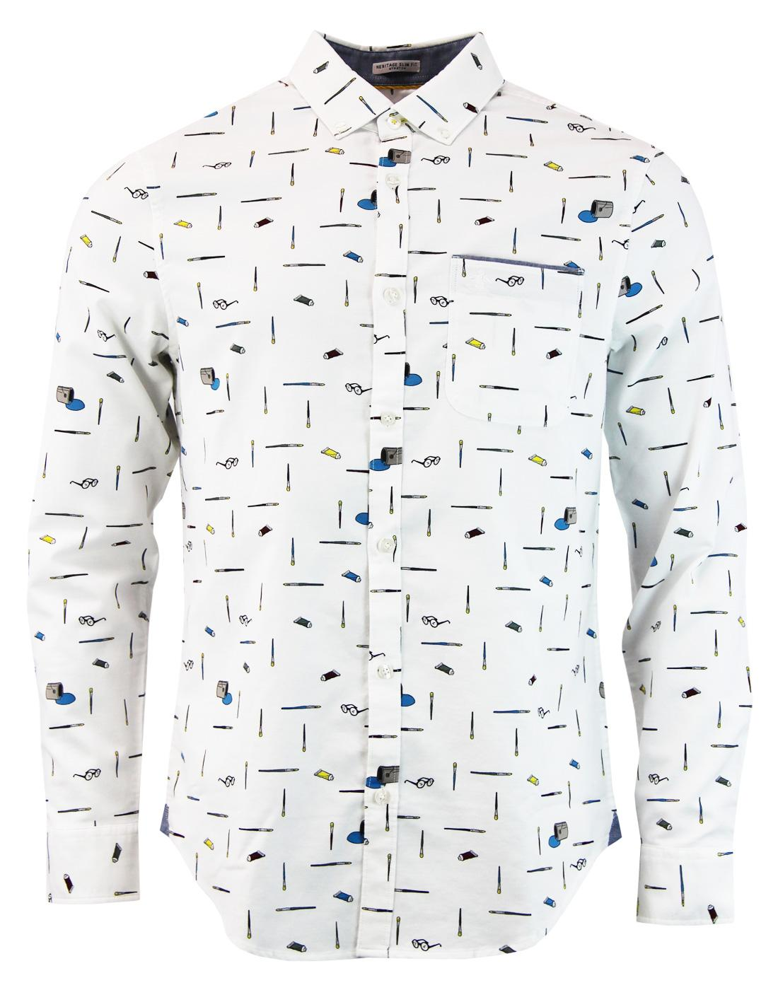 Paintbrush Convo ORIGINAL PENGUIN Retro Mod Shirt