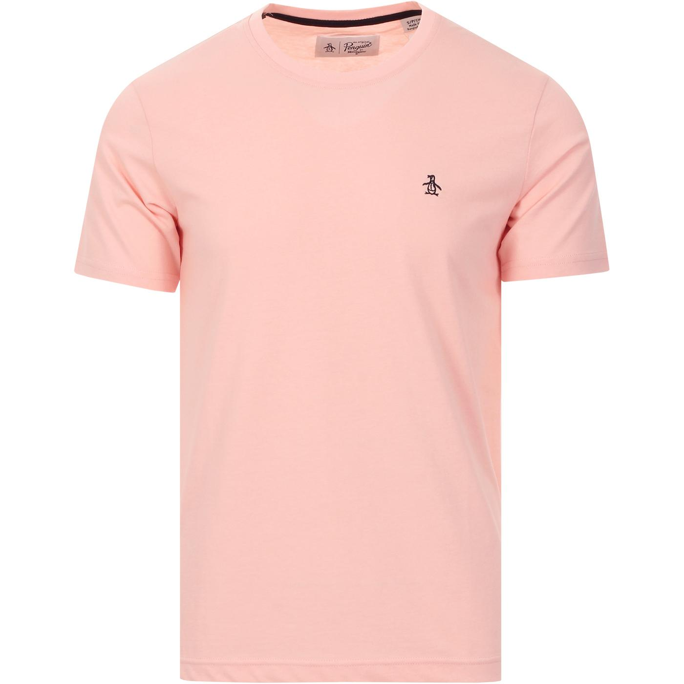 ORIGINAL PENGUIN Pin Point Logo Crew Neck In Pink