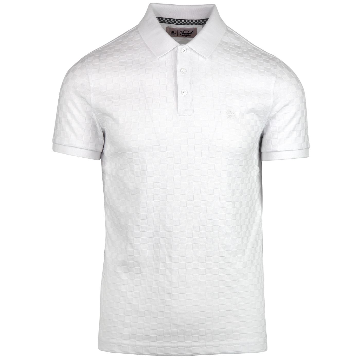 ORIGINAL PENGUIN Retro Mod Tonal Check Jersey Polo
