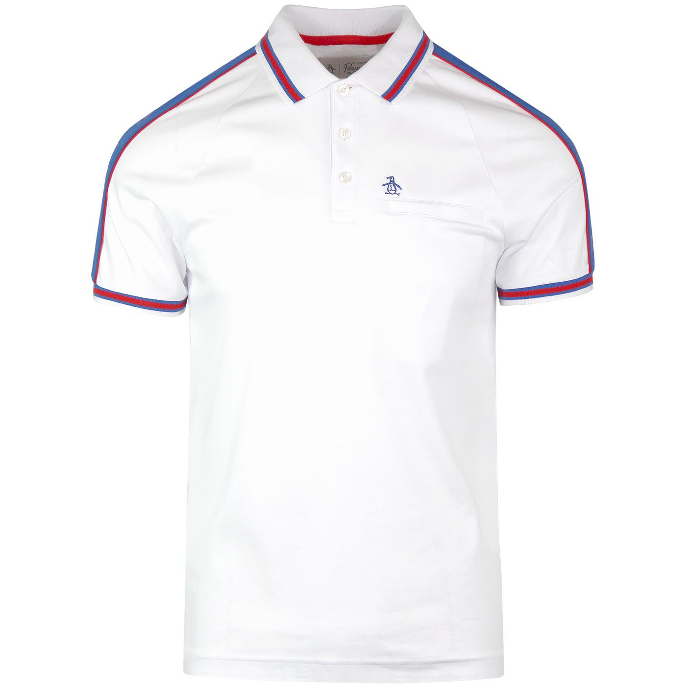 ORIGINAL PENGUIN Retro Mod Colour Block Polo (BW)