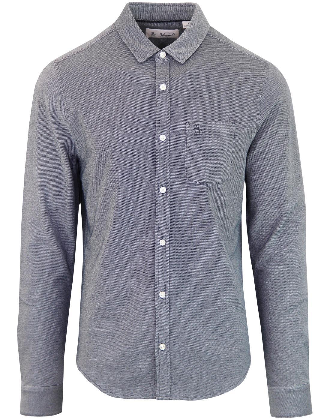 ORIGINAL PENGUIN Retro Mod Oxford Pique Shirt (DS)
