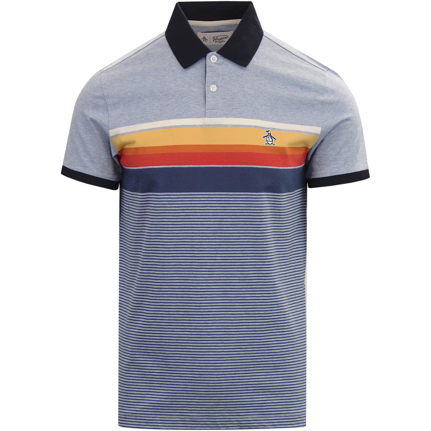ORIGINAL PENGUIN Mod Engineered Stripe Jersey Polo