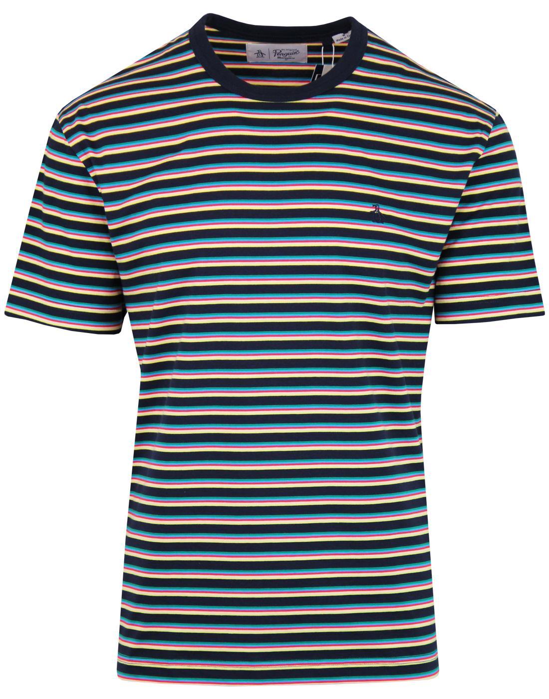 ORIGINAL PENGUIN Retro 70s Pop Stripe Crew T-shirt