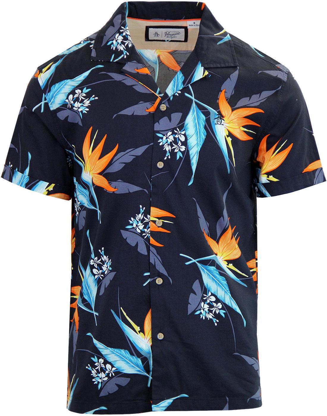 ORIGINAL PENGUIN Tropical Floral Hawaiian Shirt