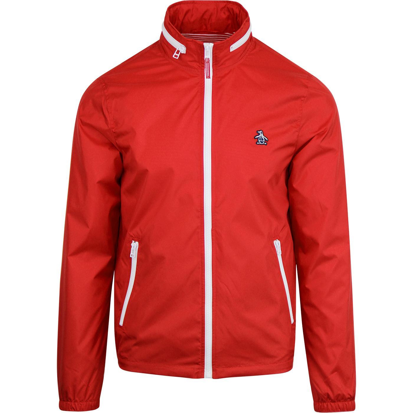 ORIGINAL PENGUIN Heritage Windbreaker Jacket (Red)