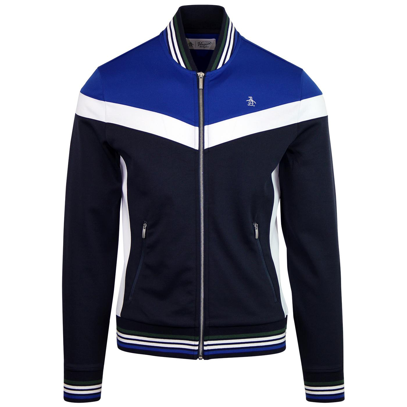 ORIGINAL PENGUIN Retro Colour Block Bomber Track
