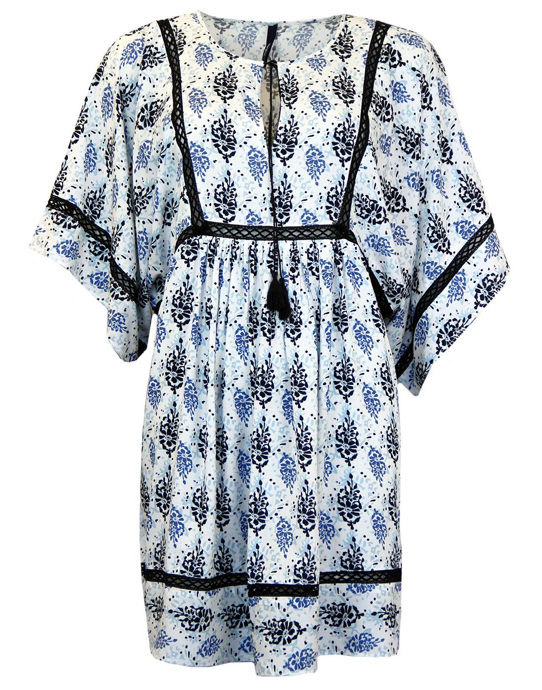 Irene PEPE JEANS Retro Floral Lace Kaftan Dress