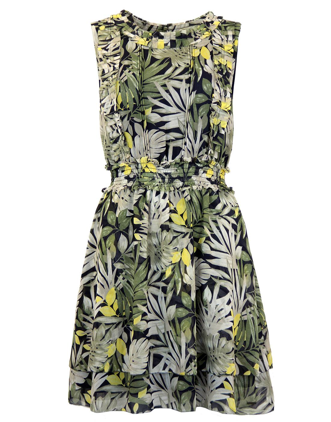 Flora PEPE JEANS Retro 60s Floral Sleeveless Dress