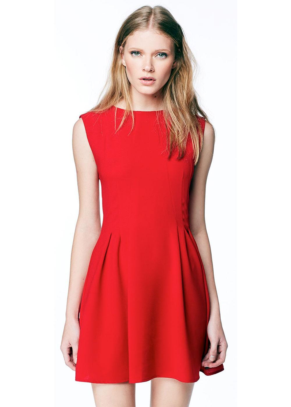 Amalia PEPE JEANS Retro 60s Mod Pleat Dress (R)