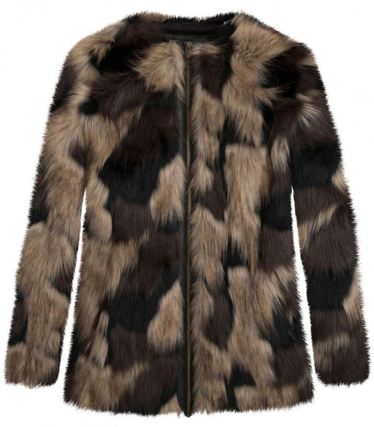 Broomfield PEPE JEANS Retro Vintage Faux Fur Coat
