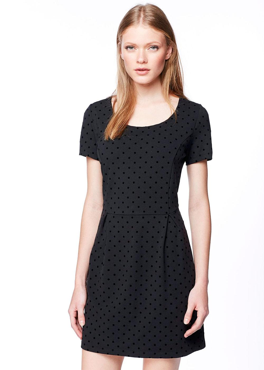 Elsa PEPE JEANS Retro Mod Tonal Polka Dot Dress
