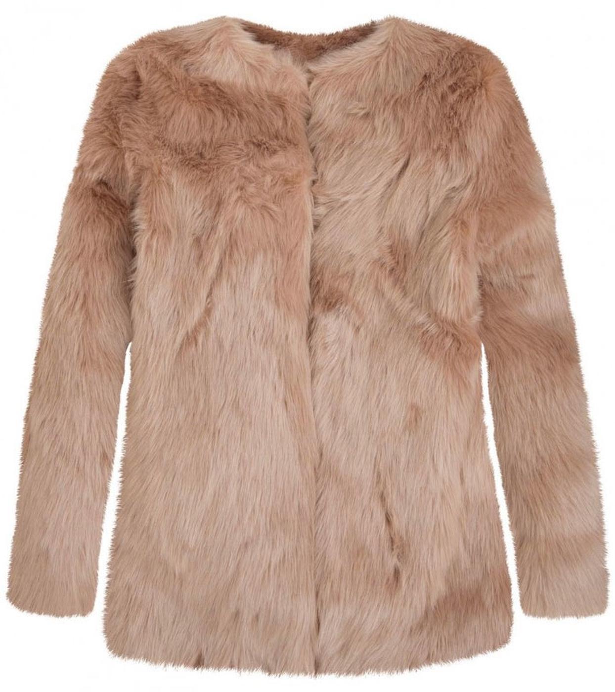 Franklin ANDY WARHOL Retro Vintage Faux Fur Coat