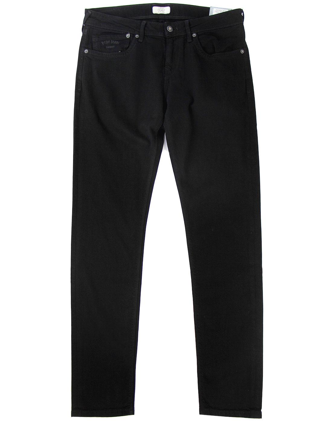 Hatch PEPE Retro Mod Slim Fit Black Denim Jeans