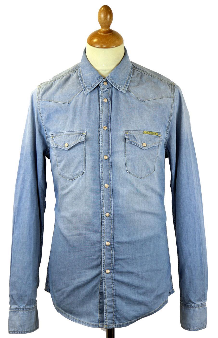 Carson PEPE JEANS Retro 70s Indie Denim Shirt (DD)