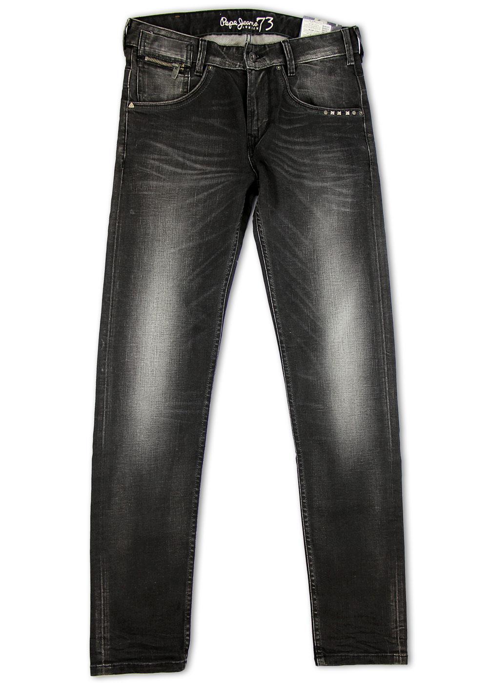 Tenbury PEPE JEANS Retro Slim Jeans with Stud Trim