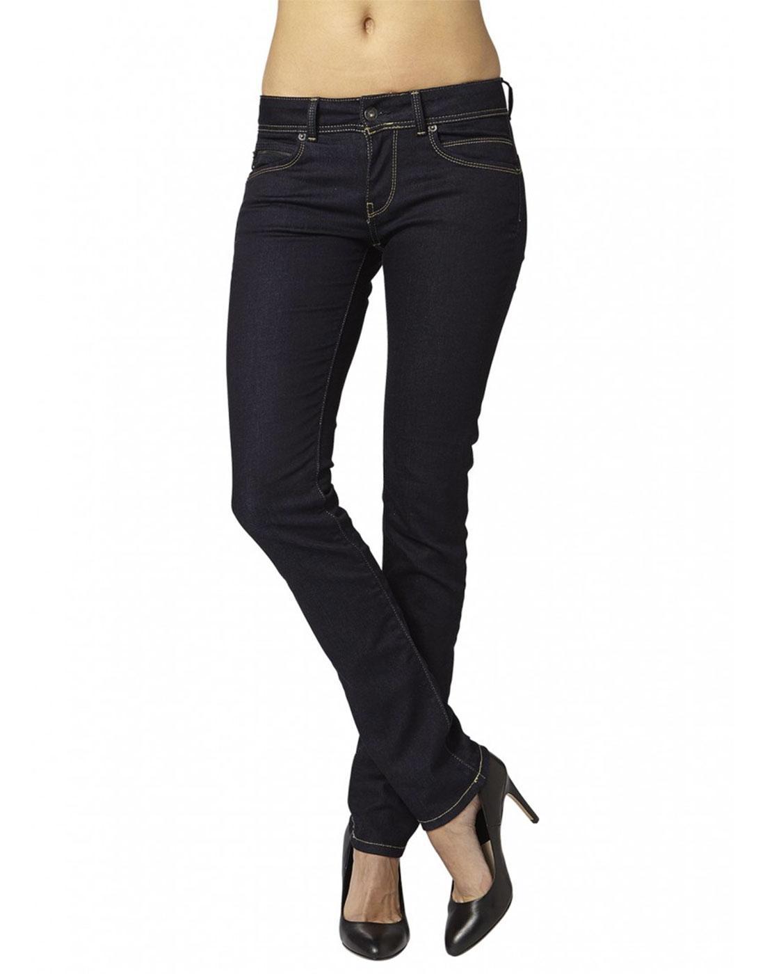 New Brooke PEPE JEANS Retro Rinse Denim Slim Jeans