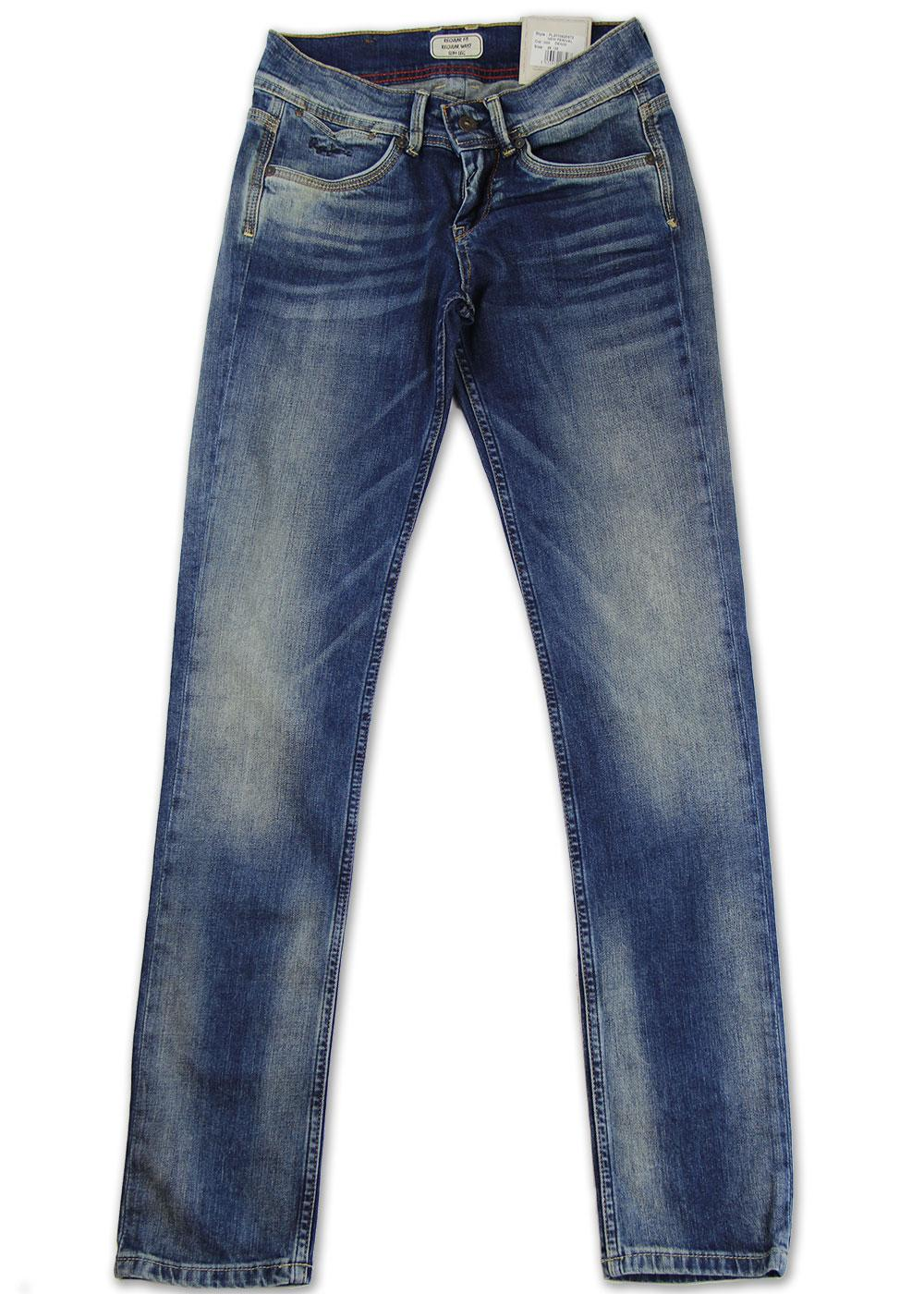 New Perival Pepe Retro Indie Distressed Slim Jeans
