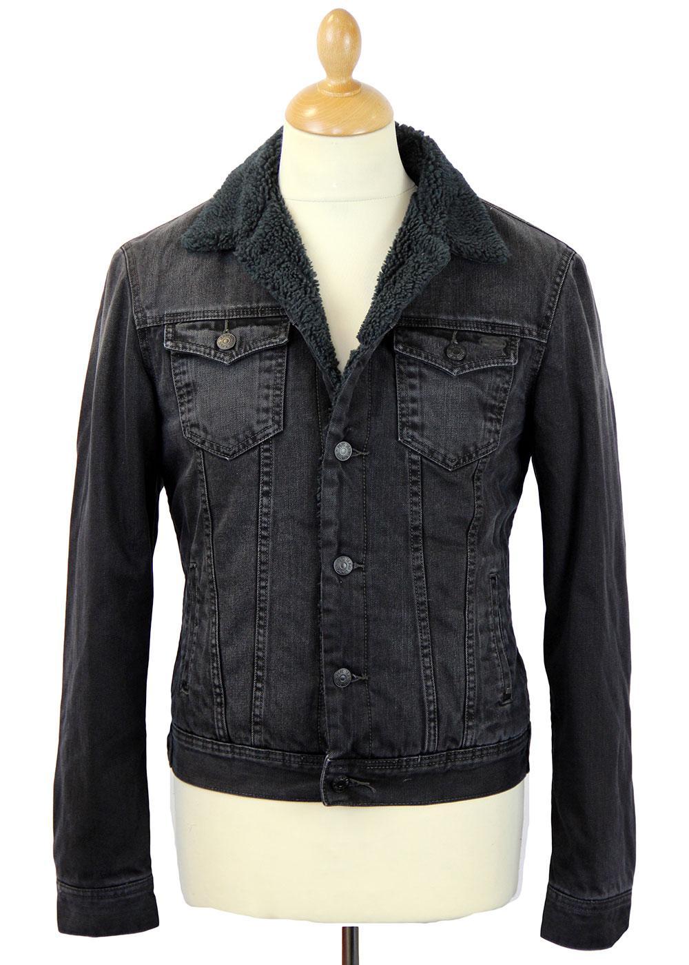 Flint Pepe Jeans Retro Sherpa Lined Denim Jacket