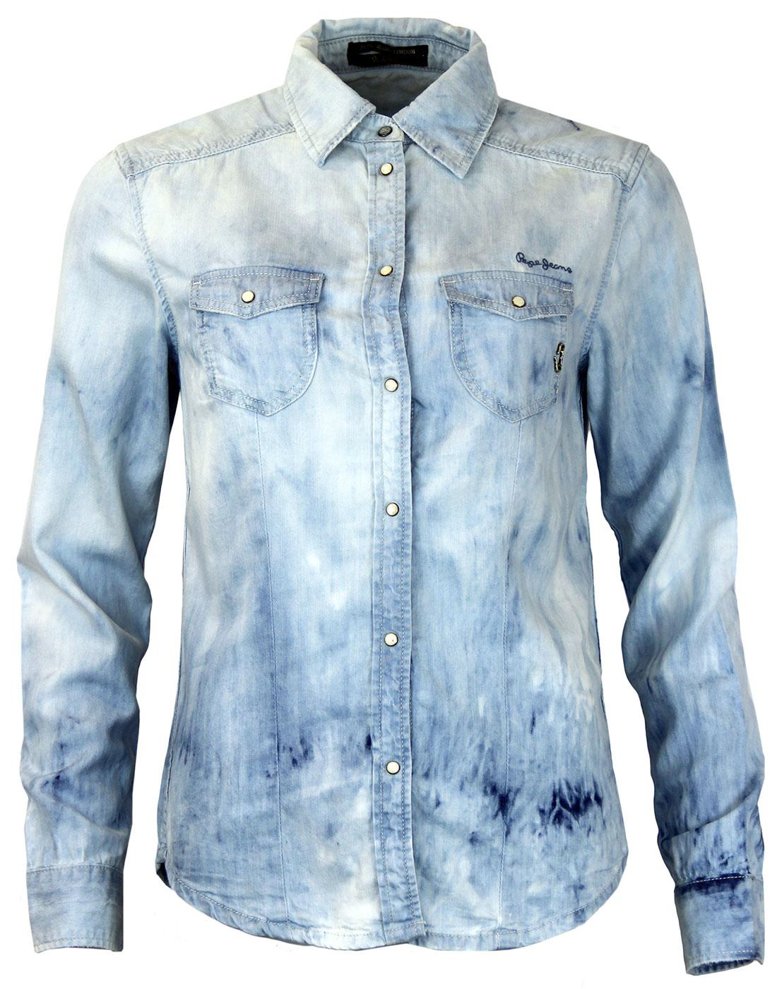 Crumpet PEPE JEANS Retro Light Wash Denim Shirt