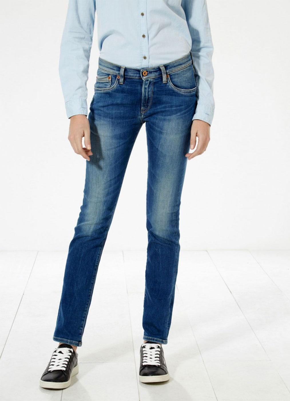 Victoria PEPE JEANS High Waist Slim Leg Jeans E62