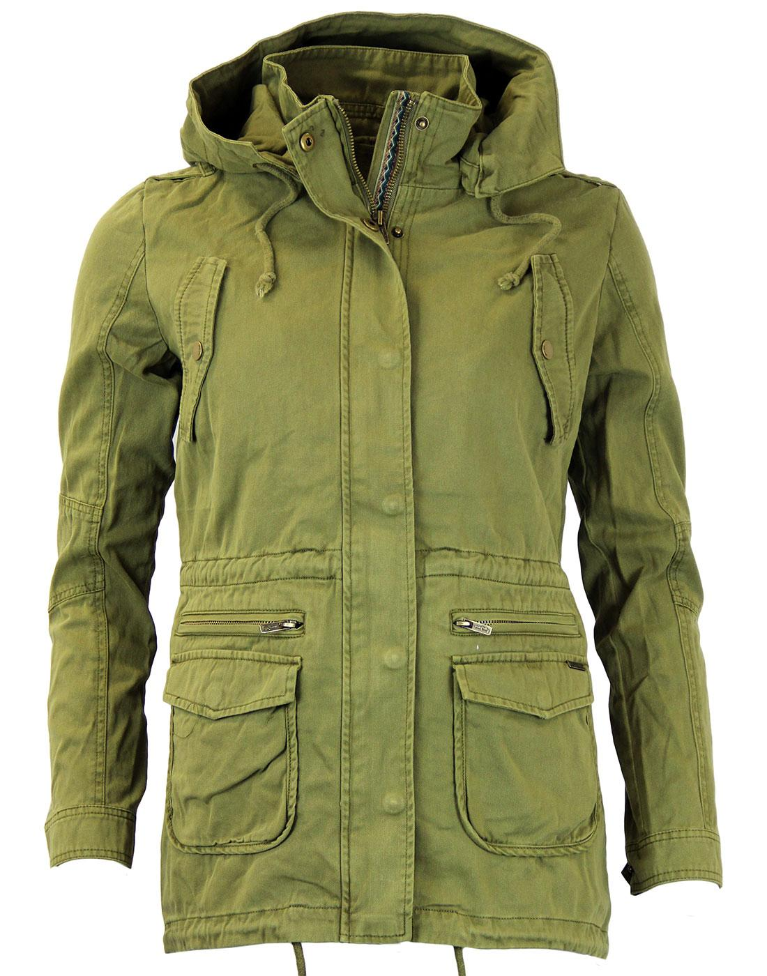 Glorie PEPE JEANS Retro Military Ikat Trim Parka