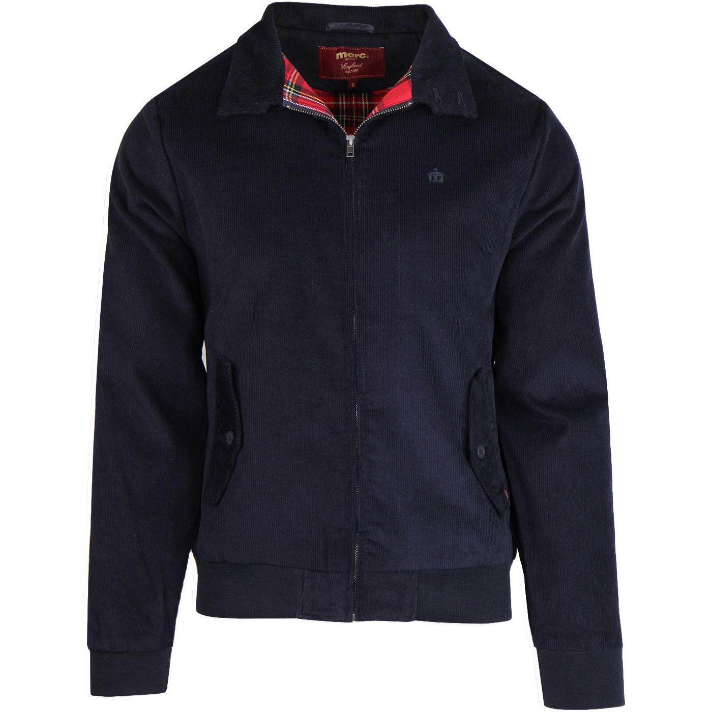 Highbury MERC Classic Mod Cord Harrington NAVY