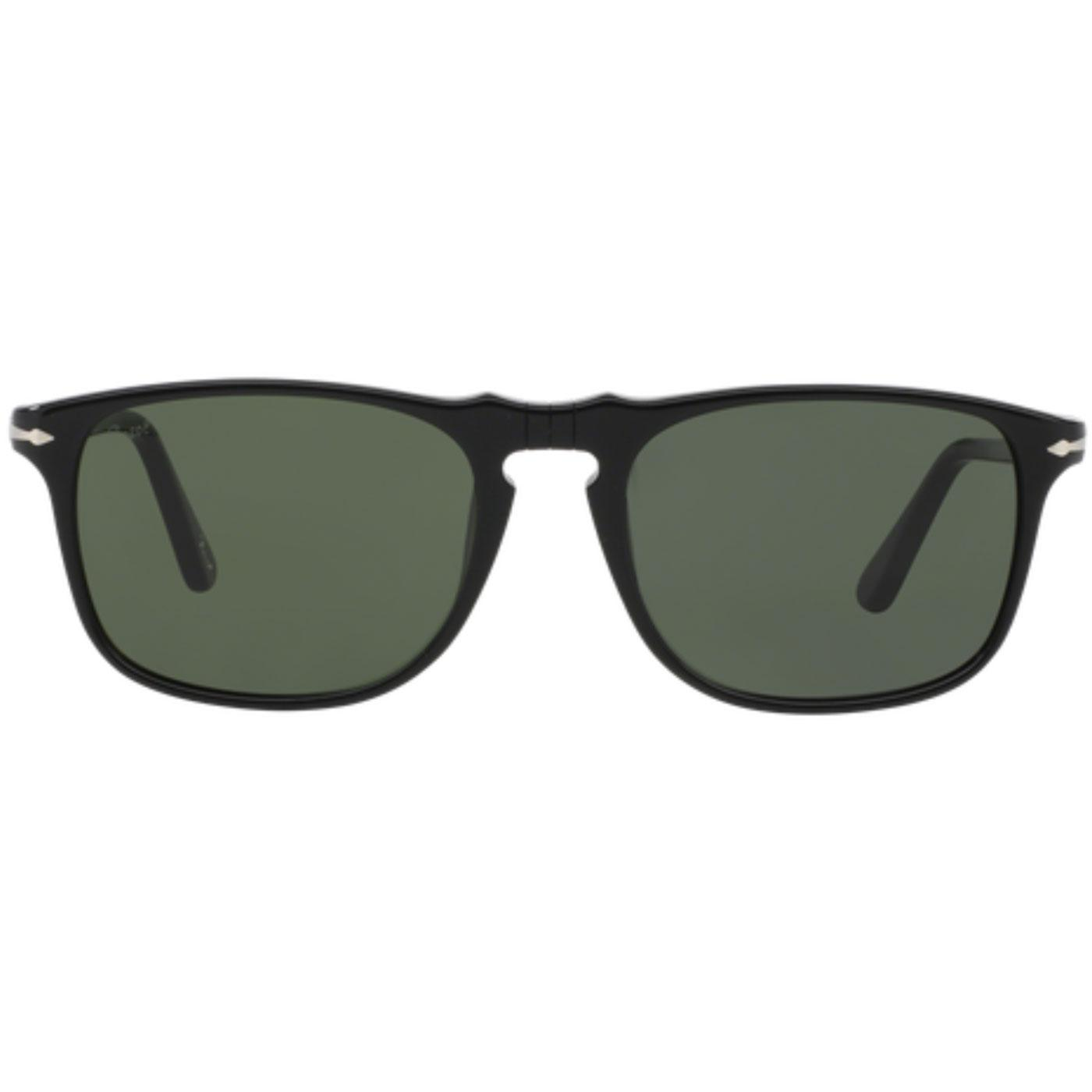 PERSOL Men's Retro 60s Squared Sunglasses Black