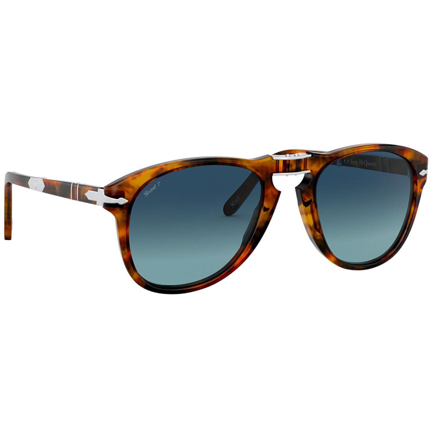 625cd9154fe9 PERSOL Steve McQueen 714SM Foldable Sunglasses in Caffe