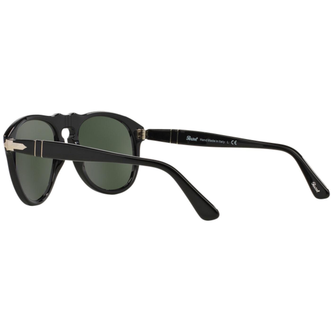 90e701edf32c PERSOL 649 Series Original Mens Mod Sunglasses in Black
