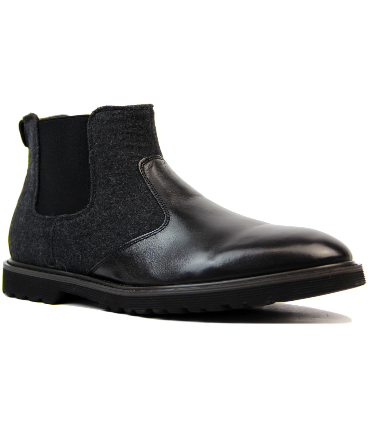 Laurie PETER WERTH Leather & Melton Chelsea Boots