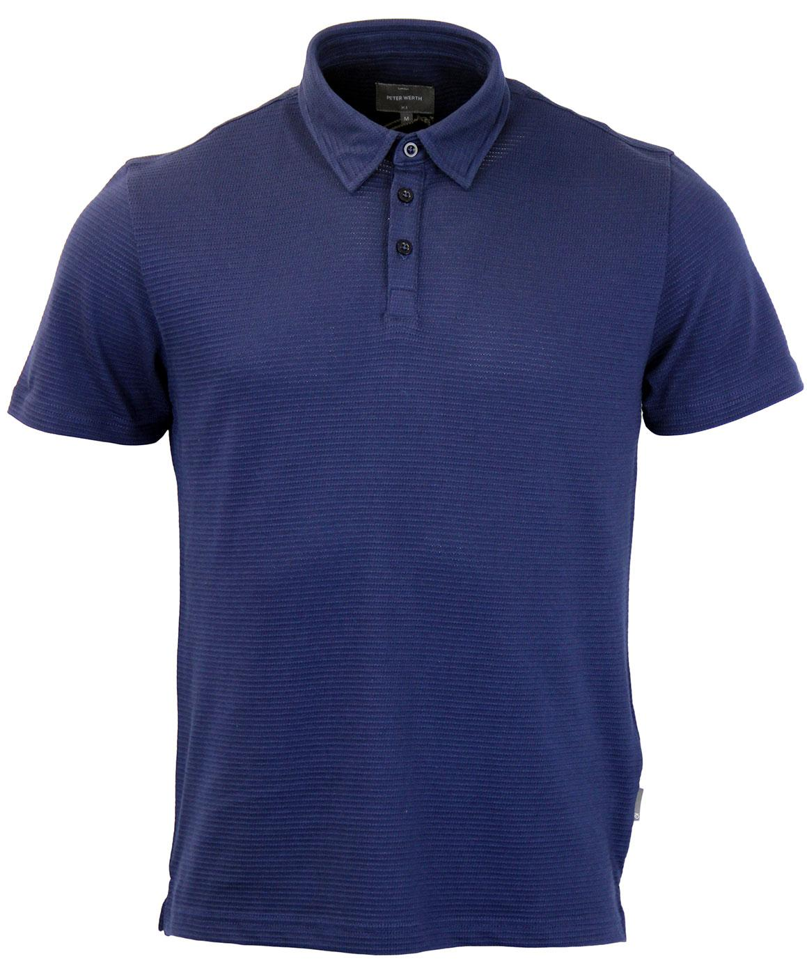 Lombard PETER WERTH Textured Perf Retro Mod Polo N
