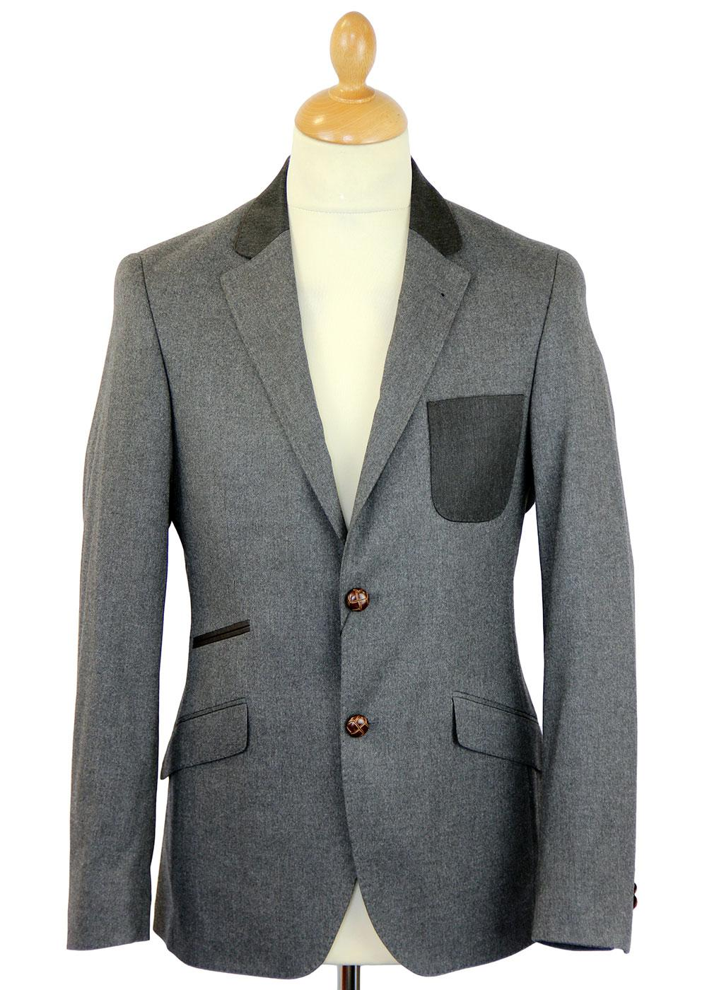 GUIDE LONDON Contrast Collar & Pocket Mod Blazer