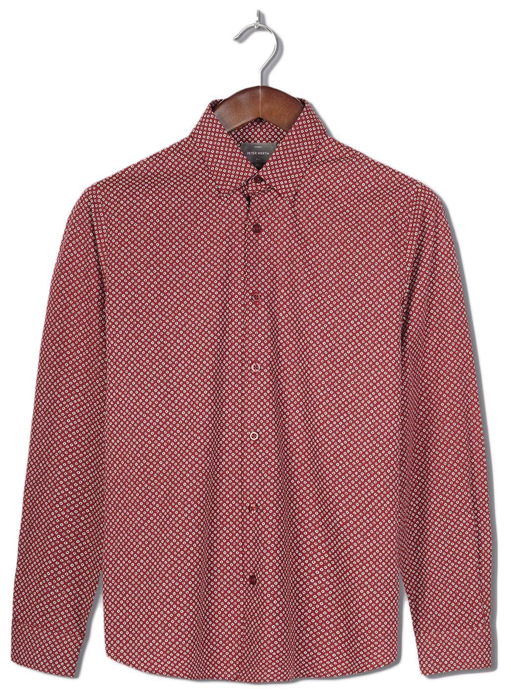 Ruttmann PETER WERTH 60s Mod Micro Floral Shirt B