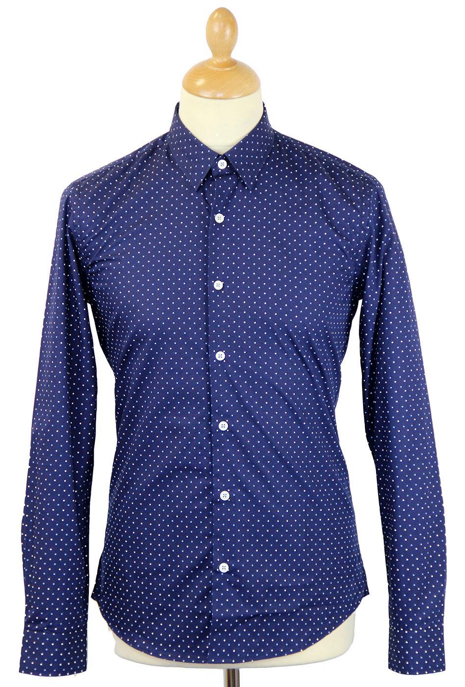 Edom PETER WERTH Retro 60s Mod Diamond Spot Shirt