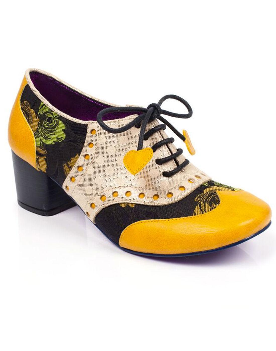 Clara Bow POETIC LICENCE Retro 50s Floral Heels M