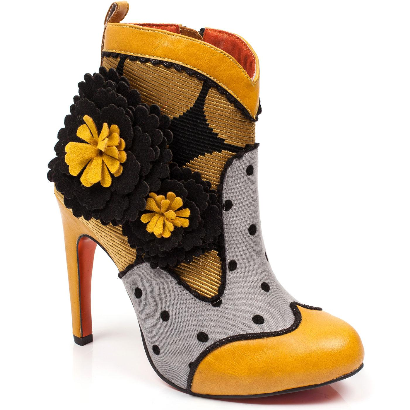 Last Word POETIC LICENCE Dotty Floral Heeled Boots