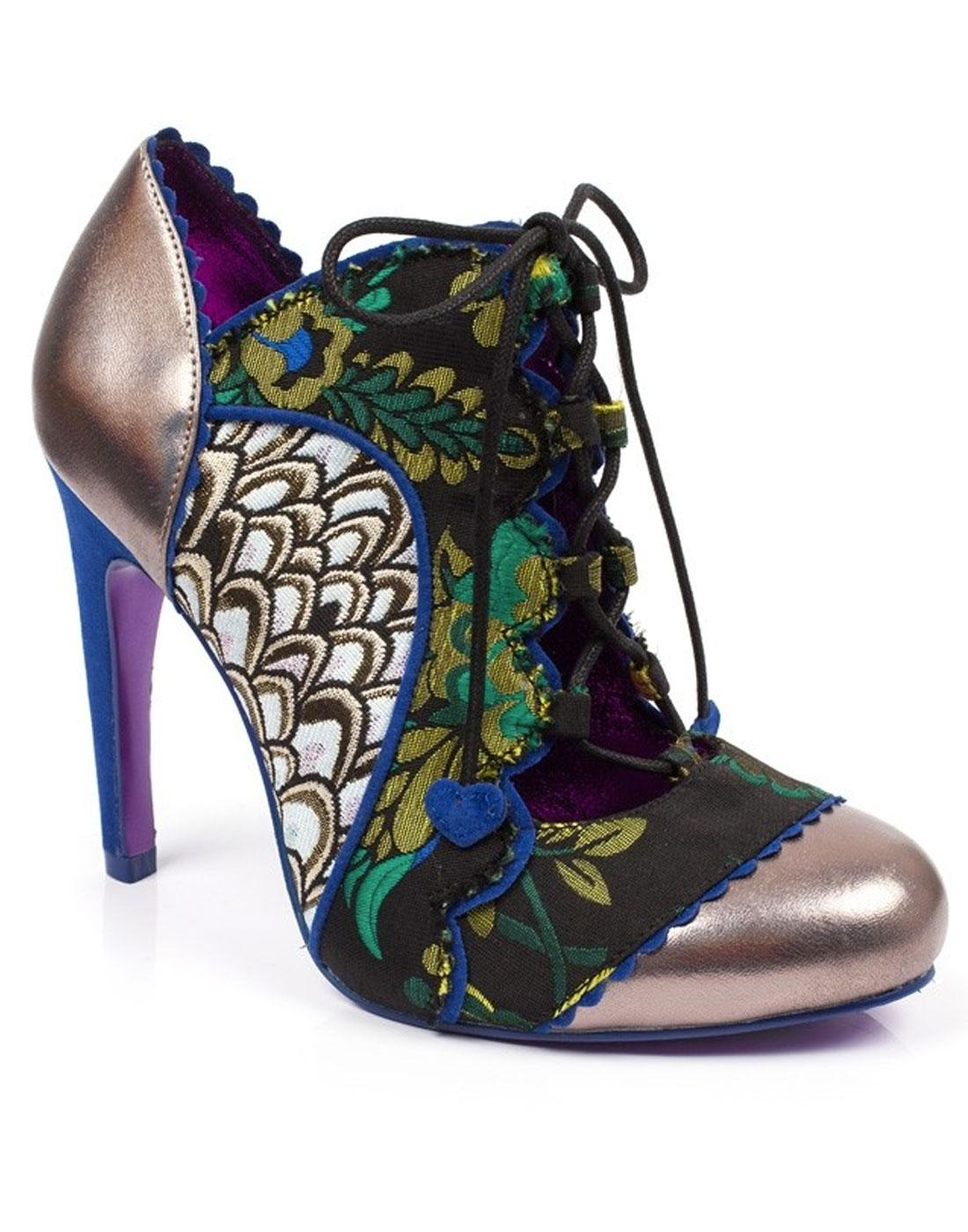 Halston POETIC LICENCE Open Front Floral Heels (G)
