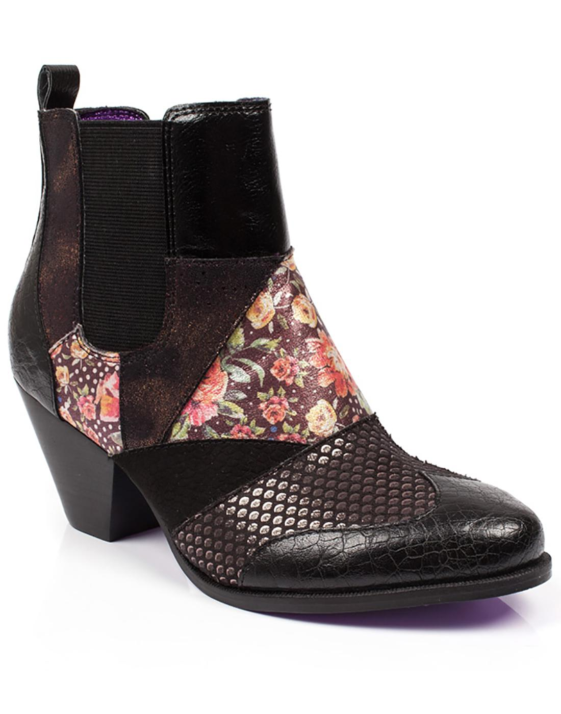 Chelsea Patch POETIC LICENCE Mod Chelsea Boots Blk