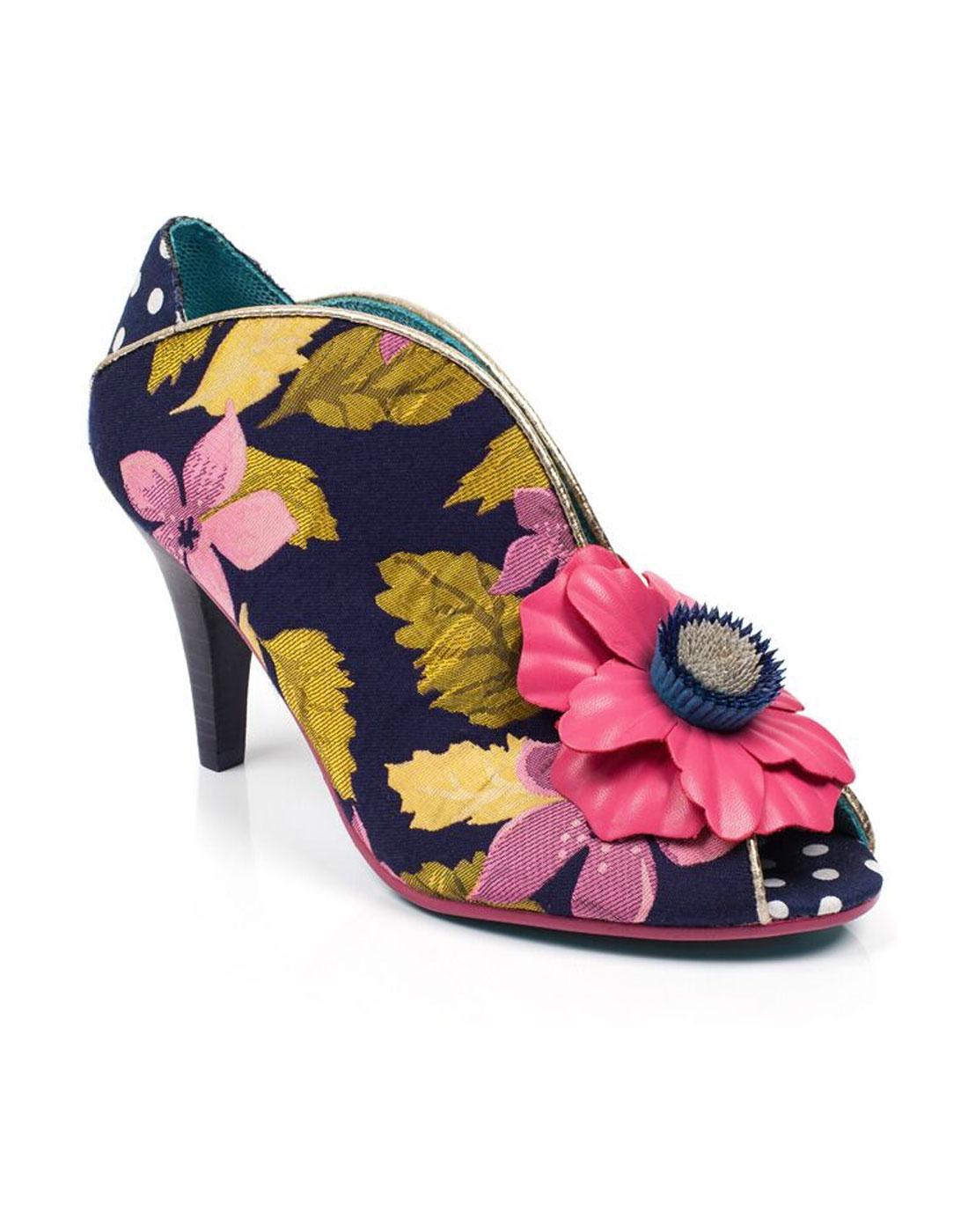 Rita Primrose POETIC LICENCE Retro Floral Heels N