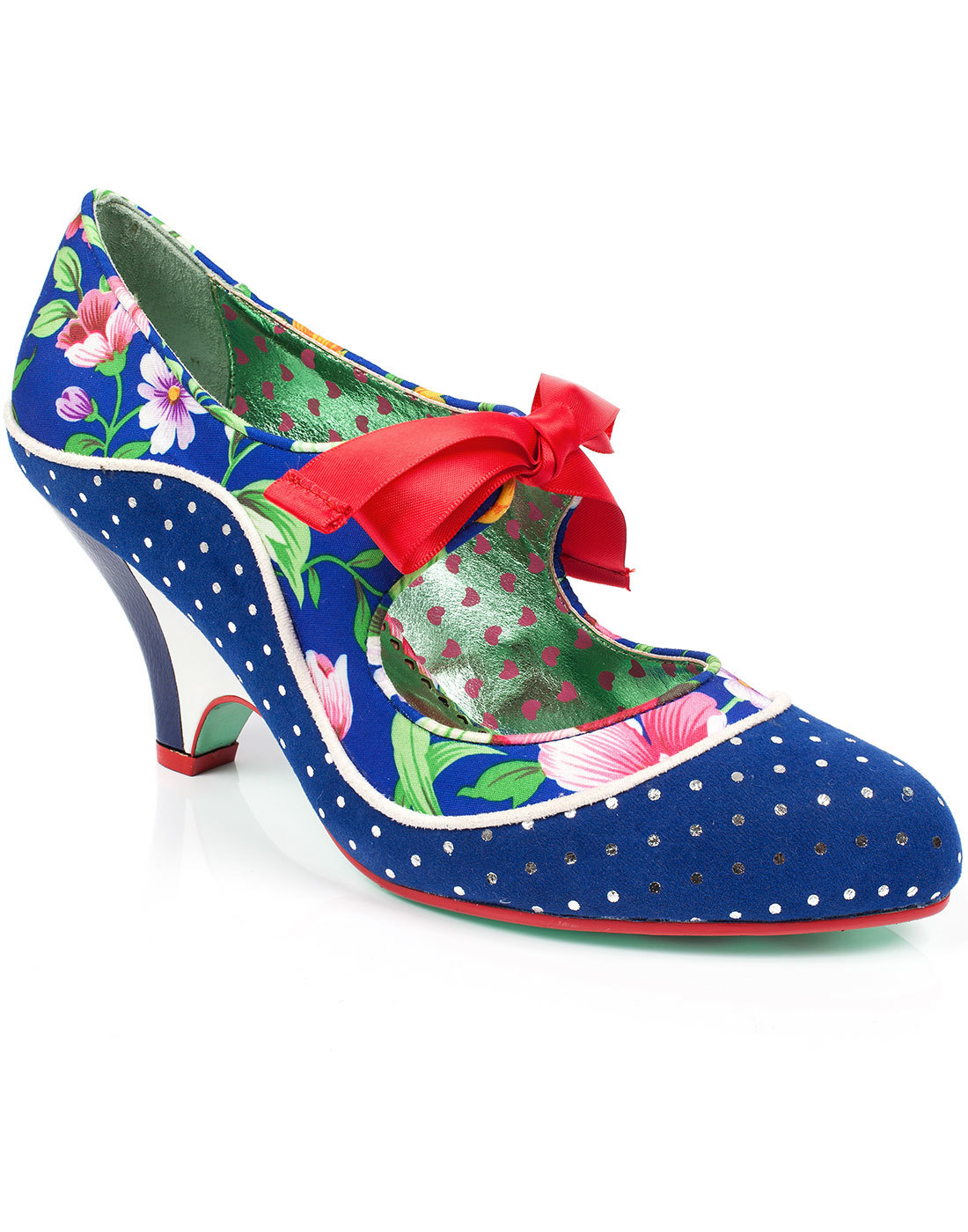 School's Out POETIC LICENCE Polka Dot Floral Heels