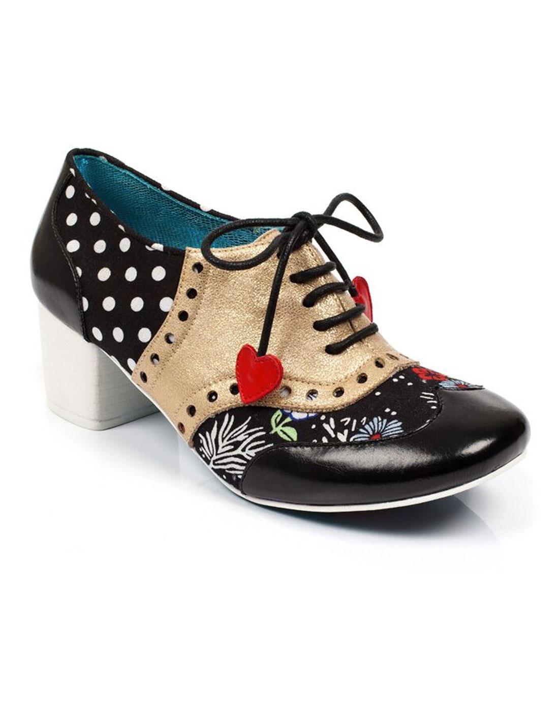 Clara Bow POETIC LICENCE Polka Dot Brogue Heels B