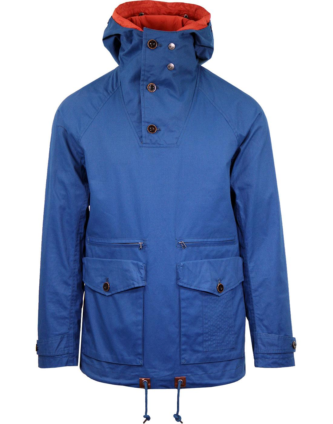 PRETTY GREEN Mens Retro Overhead Cagoule Jacket BL
