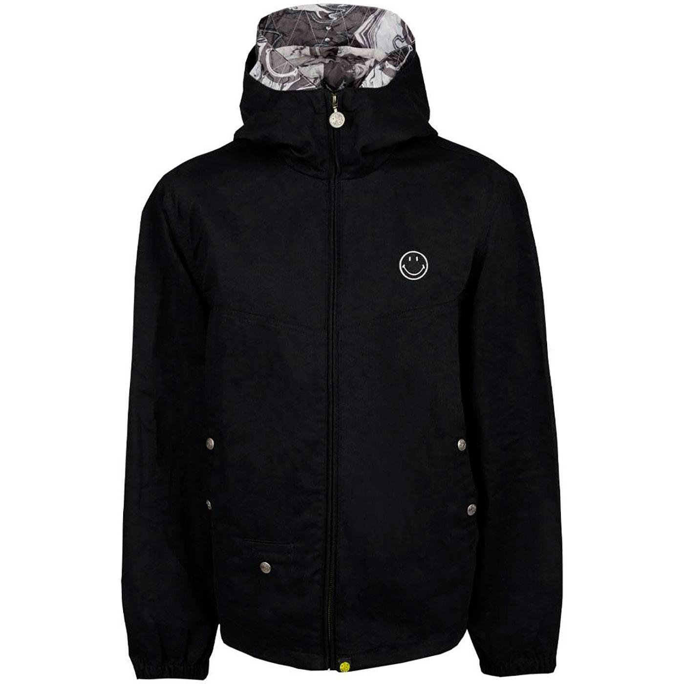 PRETTY GREEN X SMILEY® Retro 90's Hooded Jacket