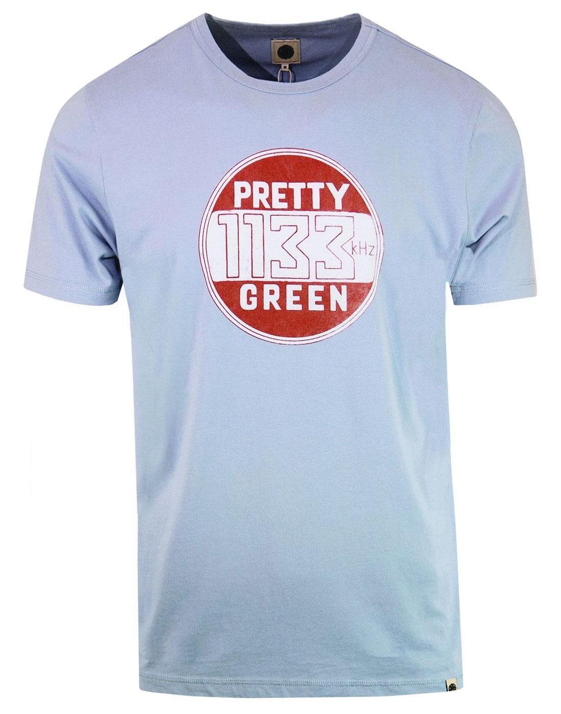 PRETTY GREEN Retro Mod Vintage Badge Print Tee