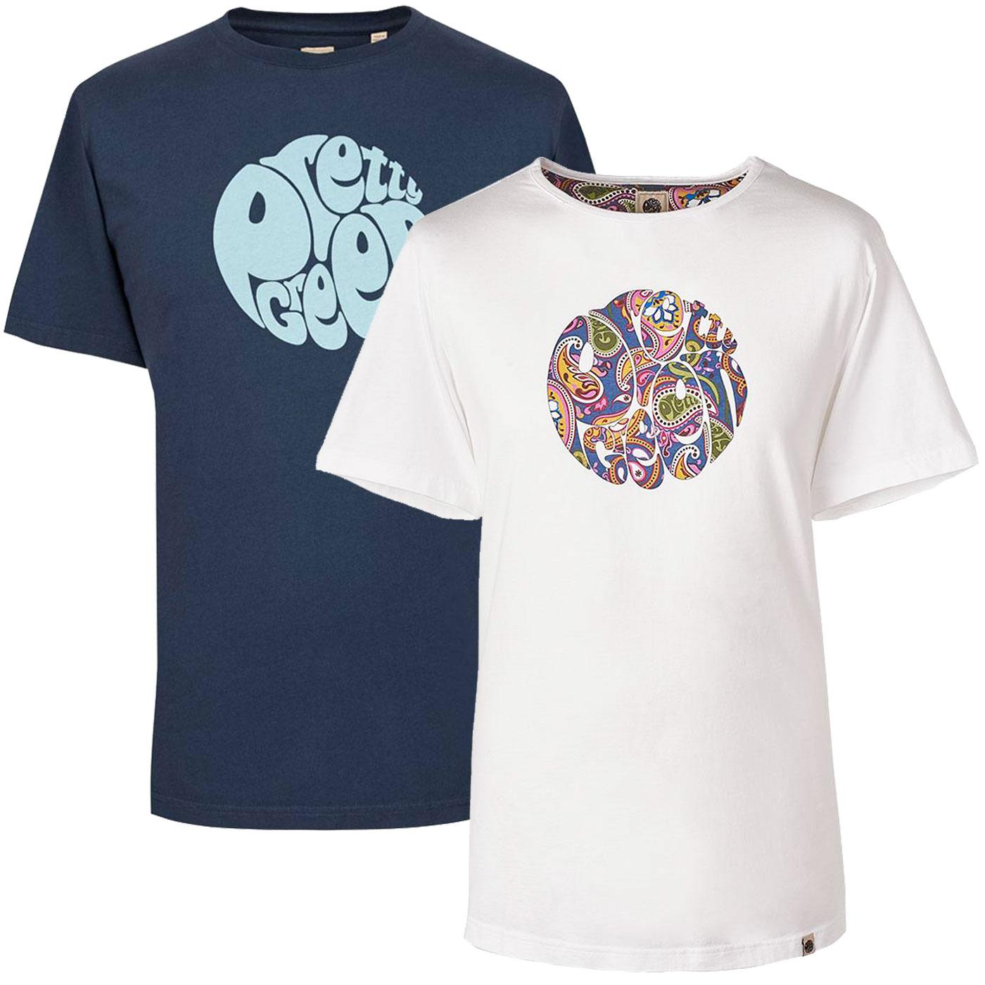 PRETTY GREEN Retro 2-Pack Logo Tee Gift Set N/W