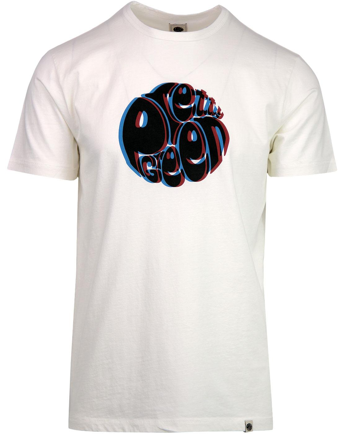 PRETTY GREEN Retro 3D Signature Logo Tee - White