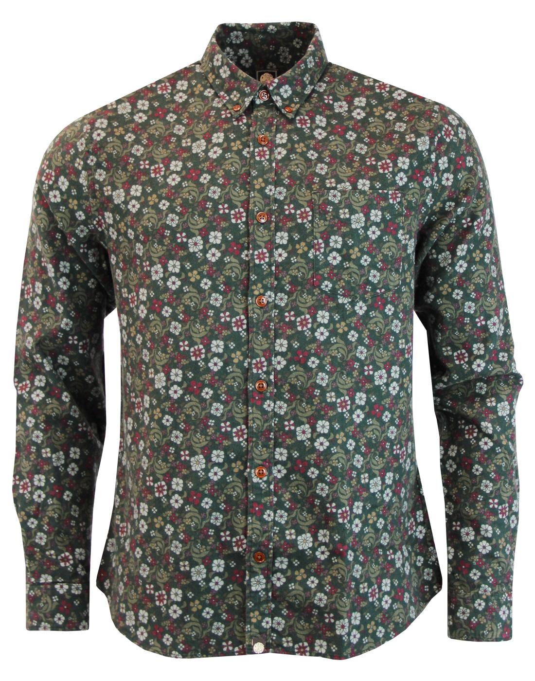 Balfour PRETTY GREEN Brushed Cotton Floral Shirt