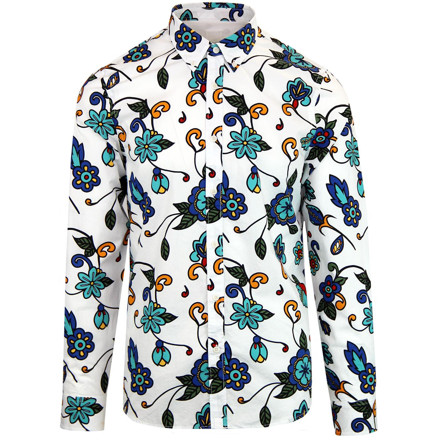 Pretty Green Beatles Floral Shirt